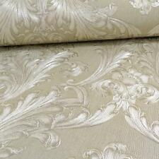 Arthouse Figaro Pewter Wallpaper Damask Italian Heavyweight Textured 291202 GOLD