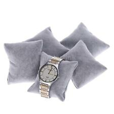 5PCS Grey Velvet Bracelet Wrist Watch Pillow Jewelry Display Cushion Holder X3O2
