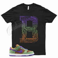 Black BLESSED T Shirt to match Nike SB Dunk Low Veneer by Cordunk