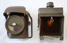 2 X LAMPS: 'LAMP ELECTRIC NO.1' + 'LANTERN ELECTRIC TRAFFIC NO.2' NORMANDY FIND!