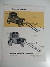 Macchine stradali per trattamenti a freddo Loro e Parisini. Studio Boggeri