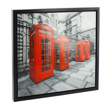 44CM PHONE BOX GLITTER WALL ART PAINTING PICTURE FRAME DECORATION GIFT LONDON