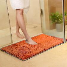 Shaggy Microfiber Soft Bathroom Rug Shower Bath Mats Non-Slip 8 Colours