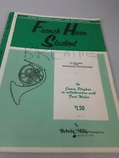 Belwin Mills French Horn Student Level One (elementary ) music book