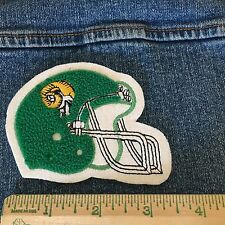 Chenille Patch Football Helmet Green Rams Vintage Letterman Sew On Felt Varsity