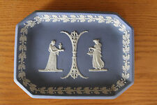Antique Wedgwood Light Blue Jasper Ware Sacrifice Figures Comb Tray (c.1920)
