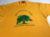 The Mighty Oaks School T-Shirt VTG Adult L/XL Minglewood Elementary Tennessee