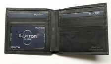 Buxton Cardex Hipster Wallet - Black- New in Box