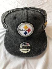8e74fcae6 Pittsburgh Steelers Team NFL New Era 9fifty Gray SnapBack Hat New  30