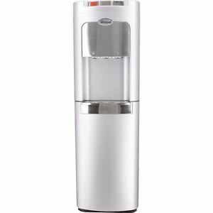 Whirlpool Full Silver and Stainless Bottom-Load Water Dispenser Water Cooler