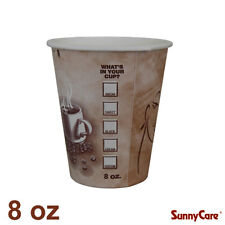 SunnyCare 8 oz Hot Coffee Paper Cups (Case of 1000)