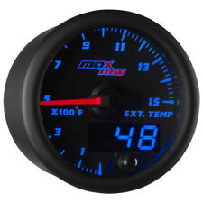 MaxTow 52mm Black & Blue Double Vision 1500F Pyrometer EGT Gauge - MT-BDV08_1500