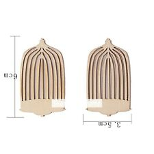 12 x Bird Cage Mdf Type Wooden Shapes Craft Embellishments Decoration 60mmx35mm