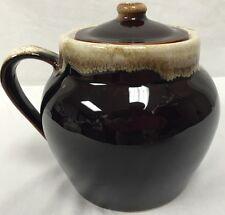 Pfaltzgraff Bean Pot Brown Drip Glaze Pottery Vintage Large Soup Crock