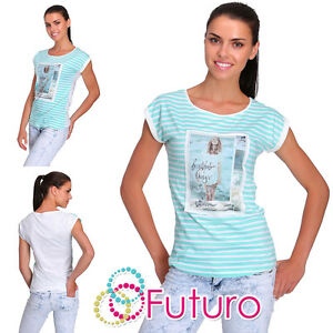 Casual T-Shirt Beautiful Print Crew Neck Everyday Top Tunic Sizes 8-12 FB214