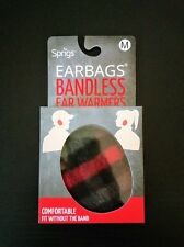 Sprigs Earbags Thinsulate Bandless Ear Warmers Muffs Flex Ear Plaid Red Medium