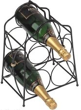 RTA 5 Bottle Metal Black Wine Rack Elegant & Practical