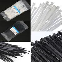Plastic Releasable Cable Ties Self-Locking Nylon Zip Fasten Wire Wraps Straps