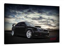 Subaru Impreza WRX Sti - 30x20 Inch Canvas - Framed Picture Print