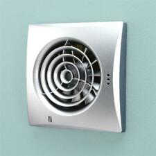 HIB Hush Wall Mounted Bathroom Ceiling Extractor Fan With Timer Matt Silver