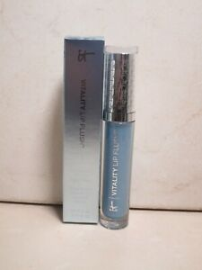 IT COSMETICS VITIALITY LIP FLUSH NEWS ANCHOR BLUE 0.11 OZ BOXED