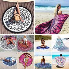 Bohemian Mandala Round Beach Tapestry Hippie Throw Yoga Mat Indian Roundie