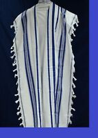 TALLIT KOSHER  / Talit / Tallis 100% Pure Wool ,for Adults / Bar Mitzvah 50