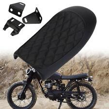 Motorbike Cafe Racer Seat Flat Saddle Cushion For Honda Suzuki Custom Universal