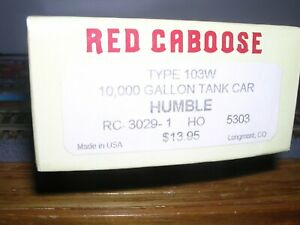Red Caboose #RC-3029-1  Humble 10,000 Gallon Tank Car #5303 KIT H.O.1/87