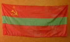 Original Old Soviet Moldovian Republic Flag Banner Moldova USSR