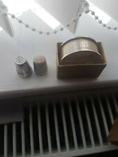 More details for silver thimbles x2 and napkin ring hallmarked free post