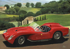 Print on canvas 1957 Ferrari 250 Testa Rossa by Toon Nagtegaal (LE)
