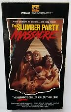 THE SLUMBER PARTY MASSACRE oop VHS tape HORROR original EMBASSY Rare