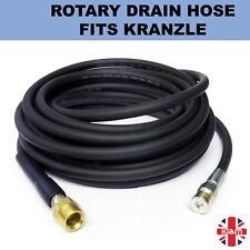 10m DRAIN CLEANING HOSE with ROTARY NOZZLE for Kranzle M22 Pressure Jet Washer
