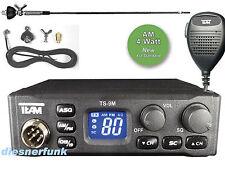 TEAM TS-9M CB FUNK SET mit DV27T Antenne 4W AM/FM f. LKW ACTROS TGA TGX Axor MAN