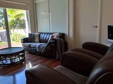 Original, Leather, Vintage, Art deco lounge suite