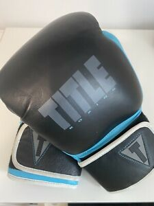 Title Boxing Teal & Black Size Small Gel Lining Boxing Gloves