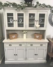 5ft Shaker Farmhouse Grey Kitchen Dresser with Cupboard & Draws Farrow & Ball