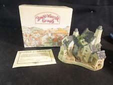 David Winter Miniature Cottage The Fisherman's Wharf 1983 w/ Box & Coa