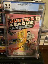 JUSTICE LEAGUE OF AMERICA #2  DC COMIC 12/60-1/61 CR/OW CGC 2.5