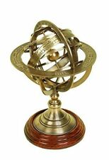 Armillary Brass Globe Nautical Engraved Sphere Nautical Gift Collectible Decor