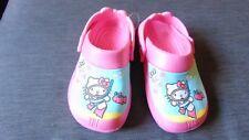 M&s Hello Kitty à Enfiler Cloggs Chaussures UK6 (enfant) EU23 Pink Mix BNWT