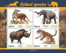 Liberia - 2021 Extinct Species, Marsupial Lion - 4 Stamp Sheet - Lib210114a