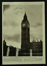 Battle Of Britain Anniversary Fly Past Gloster Meteors 1954 1 Page Photo Article