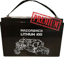 Razorback 12v 100A Rechargeable Lithium Battery LiFeP04 Caravan Camping 4x4