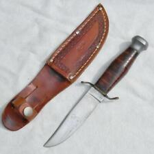 """KINFOLKS USA vintage 1950th model 96 Hunter 4"""" blade knife Orig sheath EXCELLENT"""