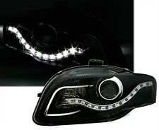 LUCES FAROS DEVIL EYES AUDI A4 8E B7 2004-2007 BERLINA ANTES ANTES LED R8 NEGRO