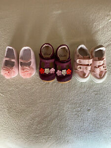 Baby Girl Shoes Bundle 3 Pairs Clarks Next Size 4 Used Great Condition