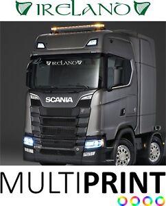 Ireland Irish Truck Wind Screen Sticker Decal Lorry Cab Windscreen Glass LOR30
