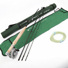 Fly Rod And Fly Reel Combo 6.5FT 2Weight 4Section Medium Fast Fly Fishing Rod